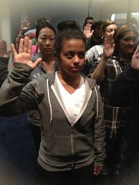 Swearing Into Air Force